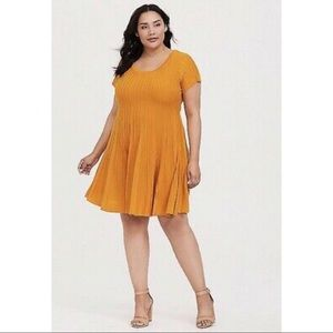 Torrid Marigold Fluted Dress